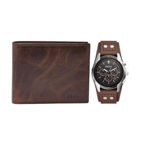 Fossil Men's Coachman Quartz Watch + Brown Wallet