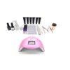 Poly Gel Nail Polish Starter Kit & LED Nail Lamp
