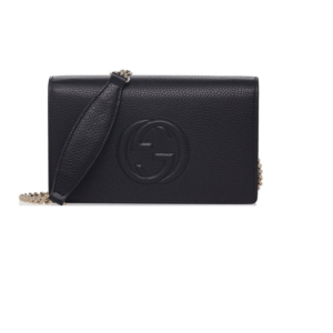 Gucci Soho Mini Black Italy Leather Handbag