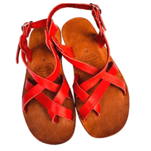 Shilongo Leather - Come To Jesus Sandals Red