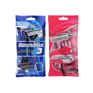 12 x 5's Supermax Triple Blade Disposable Razors