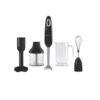 Smeg - Hand Blender Set - Black Hand-held kitchen appliance allowing whisking, mashing, cutting, chopping into a convenient beaker/container Suitable To Use With: - Smeg Stand Mixer - SMF01 - Smeg Blender - BLF01 Features: - Stainless steel colour-coated body - Powerful 700W Motor - Variable speed dial control - 4 Speeds and turbo function - Anti-slip grip, stainless steel blade - Flow blend system Specifications: - Colour: Black - Material: Stainless Steel - Dimensions: 19.5 x 34.7 x 44.2cm - Weight: 3.85kg - Wattage: 700W - Model: HBF02BLEU - Warranty: 24 Months What's in the box x 1 Hand Set x 1 Whisk x 1 Masher x 1 Blade x 1 Beaker x 1 Chopper