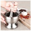 Stainless Steel Metal Spice Mortar With Pestle
