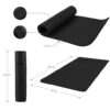 GORILLA SPORTS SA - Deluxe NBR Yoga Mat 190x60x1.5cm - Black